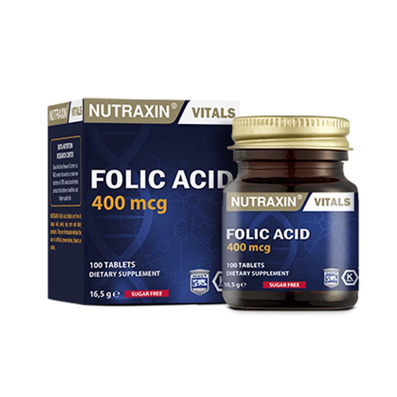 Nutraxin Folic Acid 400 mcg 100 Tablet