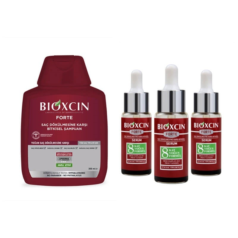 Bioxcin Forte Serum 3x30 ml & Forte Şampuan 300 ml Set